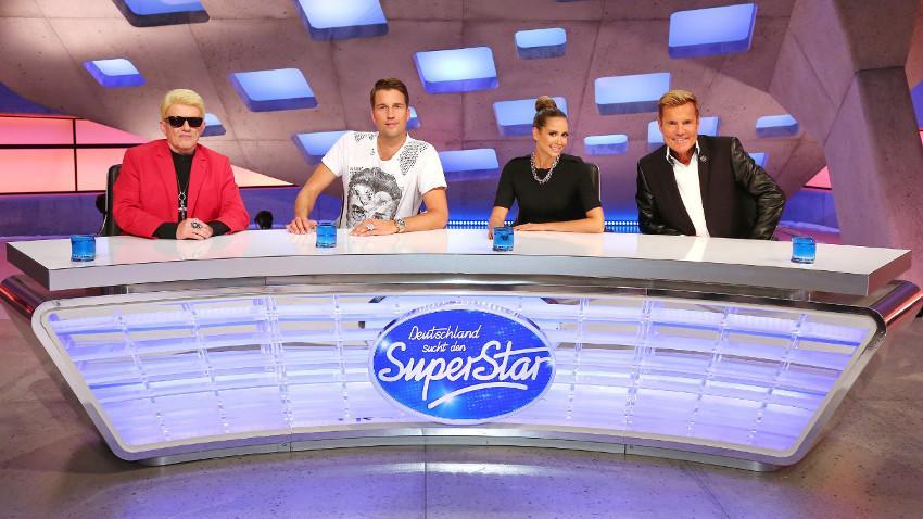 Heino, DJ Antoine, Mandy Capristo and Dieter Bohlen in Deutschland sucht den Superstar