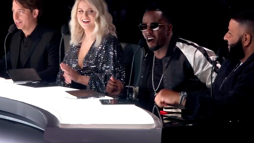 Charlie Walk, Meghan Trainor, Sean Diddy Combs and DJ Khaled, in The Four: Battle for Stardom, Fox