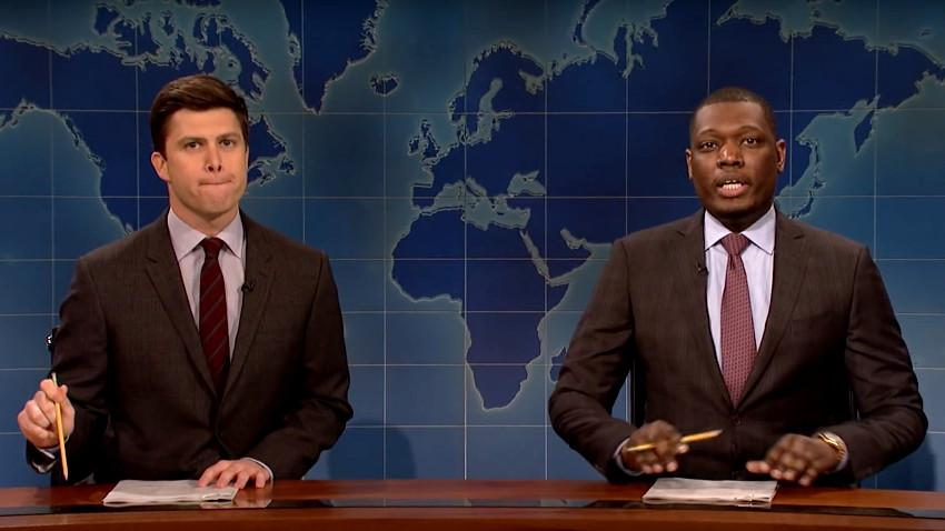 Colin Jost and Michael Che in Saturday Night Live: Weekend Update
