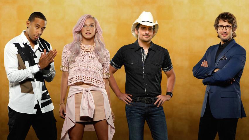 Josh Groban, Brad Paisley, Kesha and Ludacris in Rising Star