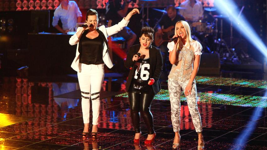Marta Jandova, Andrea Hola and Dara Rolins in Czechoslovak 'The Voice' finale
