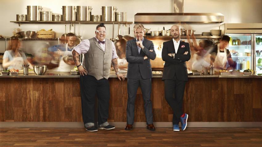 Graham Elliot, Gordon Ramsay and Joe Bastianich in MasterChef